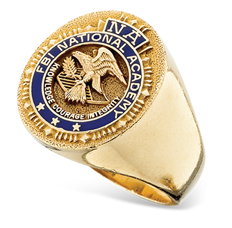 image of example F.B.I. Academy rings